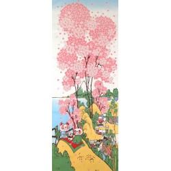 Tenugui Fuku Neko' Collection - Hanami