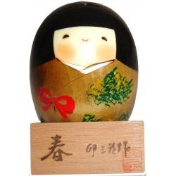 Poupée Kokeshi - Printemps