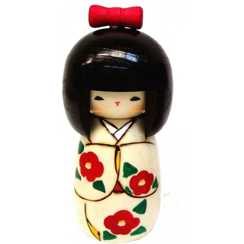 Japanese Kokeshi Doll - Handmade in Japan - Lucky Girl