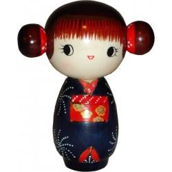Poupée Kokeshi - Mademoiselle joyeuse