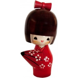 Kokeshi doll - A refuge from the rain