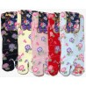 Crew Tabi socks - Size 35 to 39 - Morning glories prints