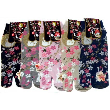 Chaussettes japonaises Tabi - Du 35 au 39 - Yozakura et Tsuki no Usagi