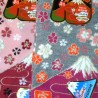 Tabi socks - Size 35 to 39 - Mount Fuji and sakura cherry blossoms