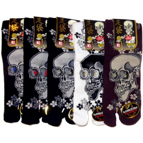 Crew Tabi socks - Size 39 to 43 - Skulls prints