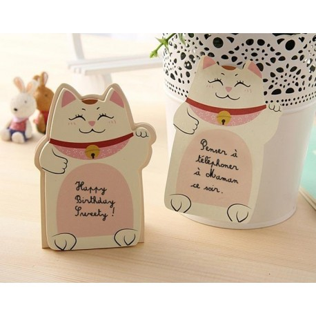 Sticky notes Manekineko - Lucky beckoning cat - Memo