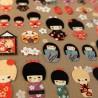 Stickers de poupées japonaises kokeshi