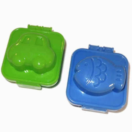 Eggs moulds Yude Tama-Gokko - Car&Fish