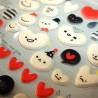 3D puffy stickers - Balloon Hearts