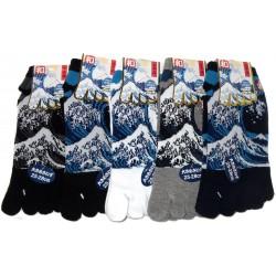 Chaussettes 5 orteils - Du 39 au 43 - Grande vague d'Hokusaï