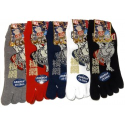 5-toes socks - Size 39 to 43 - Sumotori print