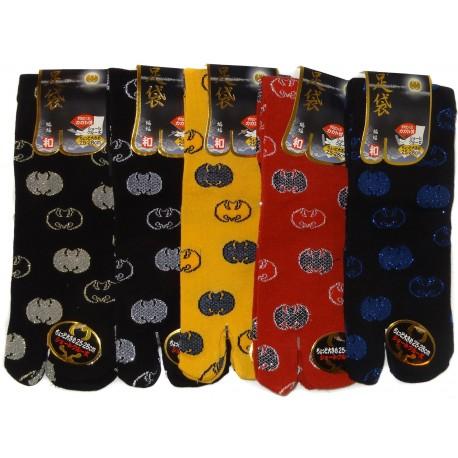 Crew japanese Tabi socks - Size 39 to 43 - Bats Koumori-mon