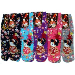 Tabi socks - Size 35 to 39 - Cute Maiko