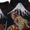 Tabi socks and Japanese socks Size 39 to 43 - Dragon and Mount Fuji