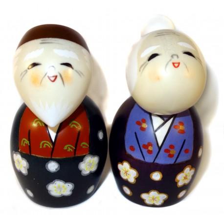 Poupées Kokeshi - Tomoshiraga - Poupées japonaises en bois