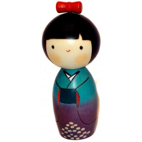 Poupée Kokeshi - Ajisai Warabe - Poupée japonaise en bois