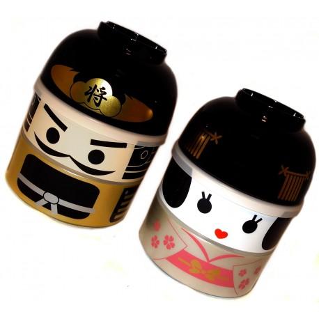 Kokeshi Bento lunch box. Japanese bento box.