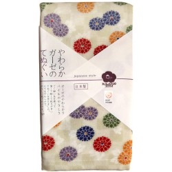 Gauze towel 90x34 cm - Chrysanthemums