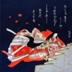Furoshiki 67x67 - Blue - Hime (princess) print
