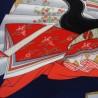 Furoshiki 67x67 - Blue - Hime (princess) print. Online shop for Japanese furoshiki cloth.