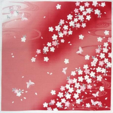 Furoshiki 50x50 - Sakura Chô. Japanese furoshiki cloth.