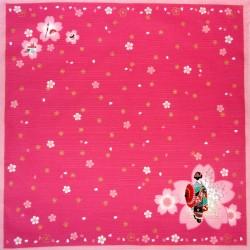 Furoshiki tissu 50x50 - Maiko et Sakura