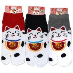 Chaussettes japonaises Tabi - Du 35 au 39 - Maneki Neko