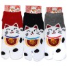 Tabi socks Size 39 to 43 - Maneki Neko. Split toes Japanese socks.