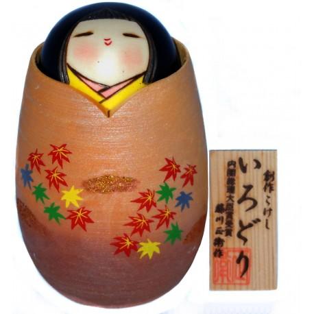 Poupée Kokeshi - Oboro Tsuki - Kokeshi japonaise en bois