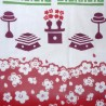 Tenugui - reversible - Hinamatsuri. Japanese fabrics and cloth.