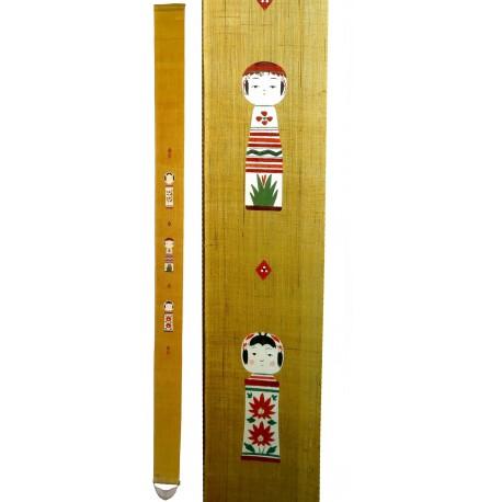 Slim hanging tapestry - Kokeshi