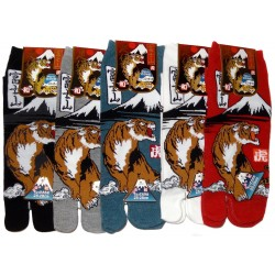 Tabi socks Size 39 to 43 - Fuji and tiger