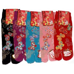 Tabi socks - Size 35 to 39 - Butterflies prints