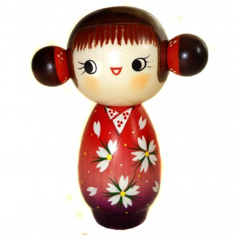 Kokeshi doll - Sakura fragrances. Traditional Japanese wooden doll
