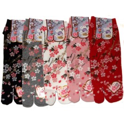 Tabi socks - Size 39 to 43 - Cherry blossoms prints