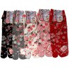 Tabi socks Size 39 to 43 - Sakura prints. Japanese split toes socks.