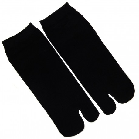 Tabi socks Size 39 to 43 - Solid black color