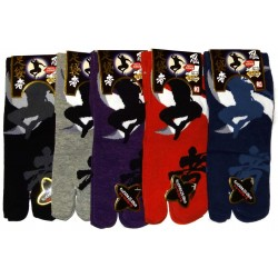 Short crew Tabi socks - Size 39 to 43 - Ninja print