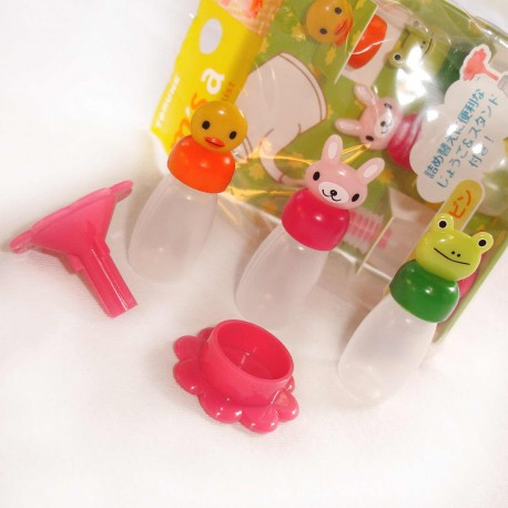 Bento and lunchbox accessories - Animal sauces bottles