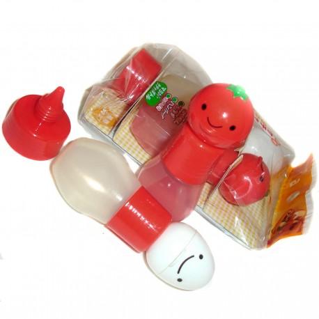 Bouteilles à mayonnaise et ketchup. Accessoires bento et boites repas