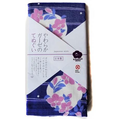 Gauze towel 90x34 cm tenugui - Bellflowers