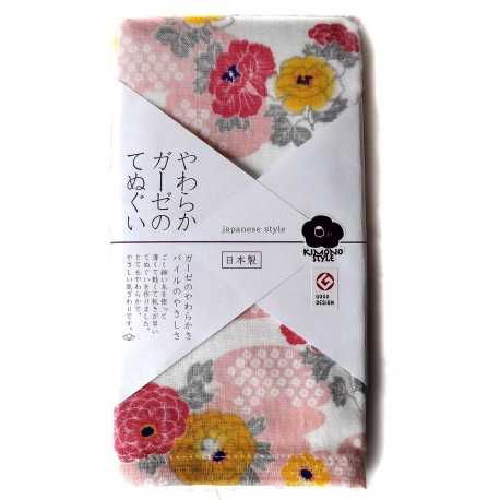 Serviette en gaze 90x34 cm tenugui - Hanakasumi