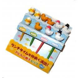 Piques décoratifs - La famille canard