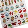 Stickers Fuku ga Ippai. Autocollants écoratifs pour scrapbooking et lettres.