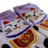 Kid's Tabi Japanese socks -  Maneki Neko - Size 26 to 35