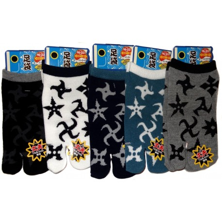 Kid's Tabi Japanese socks -  Shuriken - Size 26 to 35