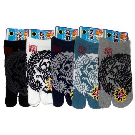 Chaussettes japonaises tabi enfants - Pointure 26 à 35 - Dragon