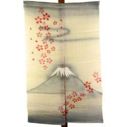 Linen natural Noren - Fuji and Sakura