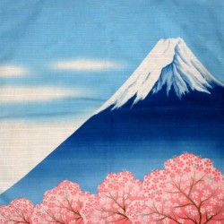 Furoshiki cloth 50x50 - Mount Fuji and Sakura