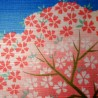 Furoshiki 50x50 - Mount Fuji and Sakura. Japanese wrapping cloth.